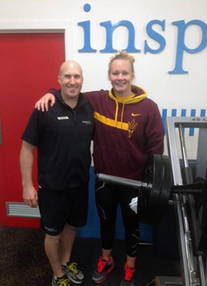 Brendan Rigby and Rowena Webster - Australian Water Polo Player training at Inspire Fitness