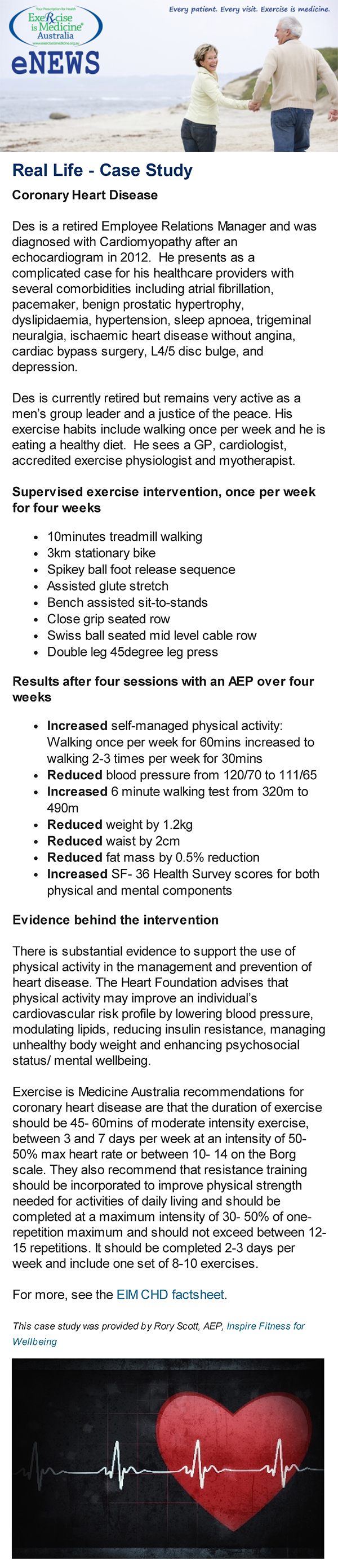 Exercise Is Medicine Australia features Inspire Fitness Exercise Physiology case study